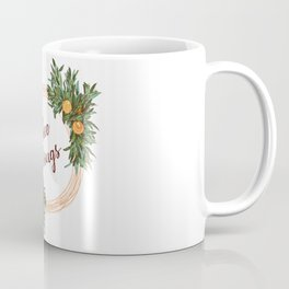 Free Shrugs spring summer wreath Coffee Mug