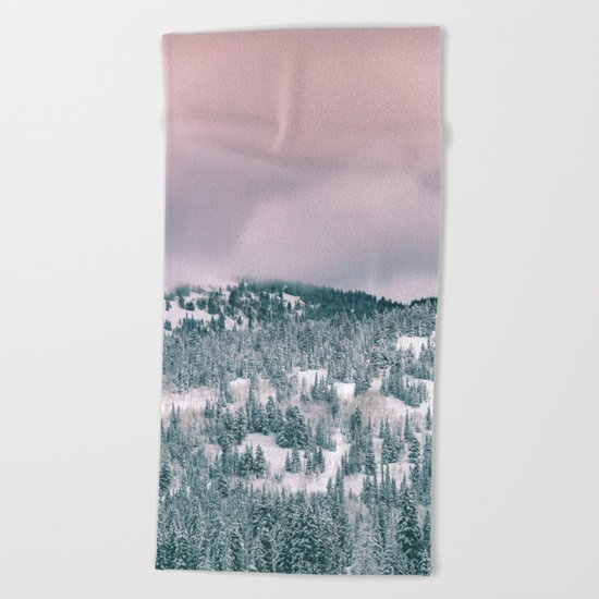 Winter love #art #buyart #society6 Beach Towel
