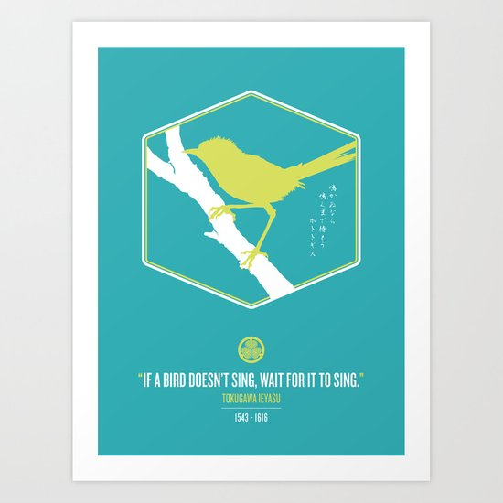 If A Bird Doesn't Sing Series 3 of 3 Art Print