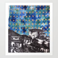greece Art Prints featuring Greece by Jill Whit Art