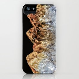 Fire and Ice Citrine crystals iPhone Case