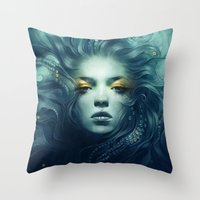 ink Throw Pillows featuring Ink by Anna Dittmann