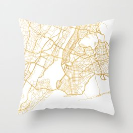 NEW YORK CITY NEW YORK CITY STREET MAP ART Throw Pillow