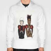 basquiat Hoodies featuring Warhol Basquiat by Mackenzie Mauro