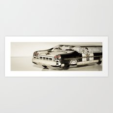 Police car Tin Toy Art Print