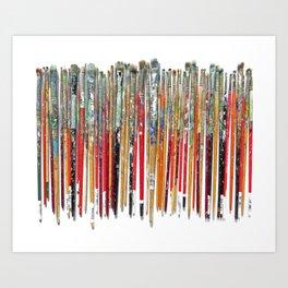 Twenty Years of Paintbrushes Art Print