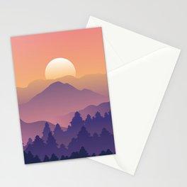 Sunrise Mountain Peaks Stationery Cards
