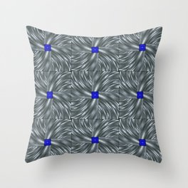 Making Waves Gray Throw Pillow