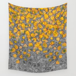 Real Aspen Leaves Collage Wall Tapestry