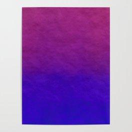 Deep Magenta Purple Ombre Watercolor Poster