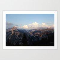 yosemite Art Prints featuring Yosemite by Leah Flores