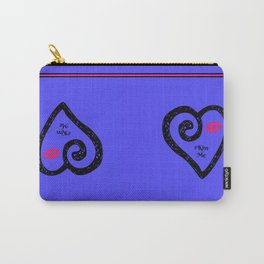 Kiss Me - Periwinkle Carry-All Pouch