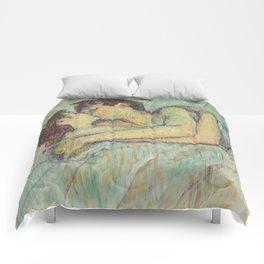"""Henri de Toulouse-Lautrec """"In Bed: The Kiss"""" Comforters"""