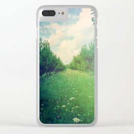 Apple Orchard in Spring Clear iPhone Case