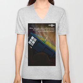 Tardis Down Unisex V-Neck