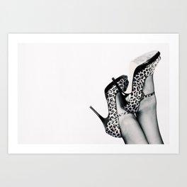 Violet's Shoes Art Print