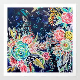 Night Bloomers Art Print