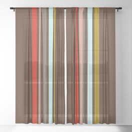 Stripes on Brown Sheer Curtain
