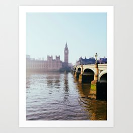 London on a frosty morning Art Print