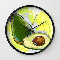 vietnam Wall Clocks featuring Vietnam Avocado by Vietnam T-shirt Project