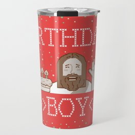 UGLY SWEATER CHRISTMAS BIRTHDAY BOY Travel Mug