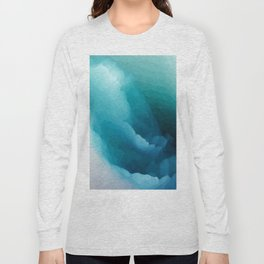 """""""Inner Calm"""" Turquoise Modern Contemporary Abstract Long Sleeve T-shirt"""