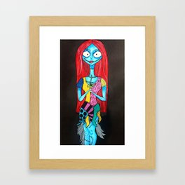 sally skeleton  Framed Art Print