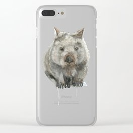 Wombat watercolour Clear iPhone Case