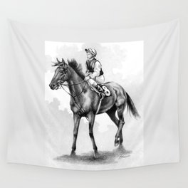About To Play Up - Racehorse Wall Tapestry