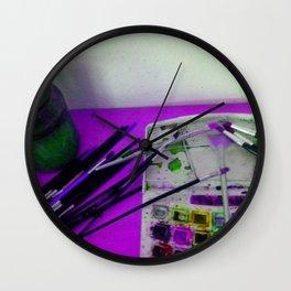 Aquarell und Digital Wall Clock