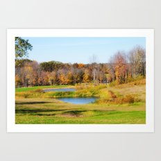 Fall at the Ponds Art Print