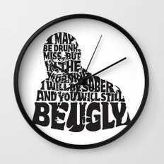 Best Churchill Quote Ever Wall Clock