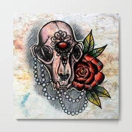 Skulls n Roses Metal Print