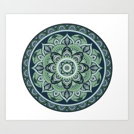 Cool Mandala Art Print
