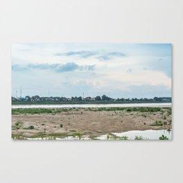 Looking at Thailand, Vientiane, Laos Canvas Print