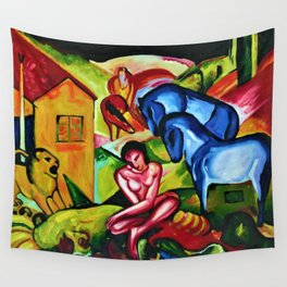 The Dream by Franz Marc Wall Tapestry