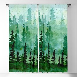 Deep in the pine woods Blackout Curtain