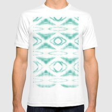 BOHEMIAN MINT PATTERN White MEDIUM Mens Fitted Tee
