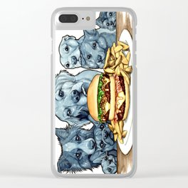 Burger Dogs Clear iPhone Case