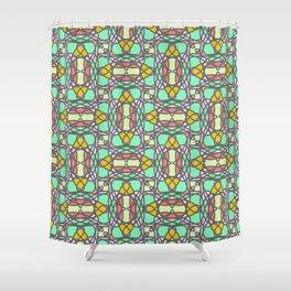 Decorative stylized mosaic seamless pattern Shower Curtain