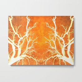 Branches of Fire Touch Metal Print