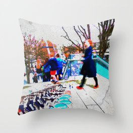 South Bank Grunge Throw Pillow