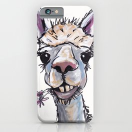 Alpaca Art, Diesel the Alpaca iPhone Case