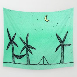 Beach Camping Wall Tapestry