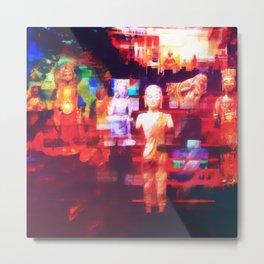 Contemporary Abstract Buddha Meditation Art Metal Print