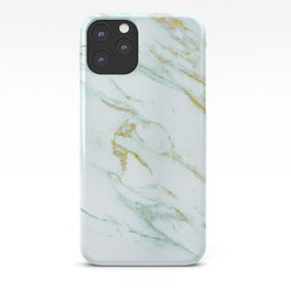 Gold Mint Marbled iPhone Case