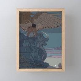 Perched Angels Framed Mini Art Print