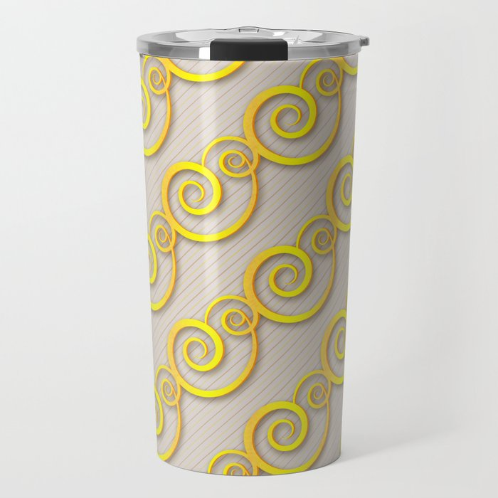 Golden swirls Travel Mug