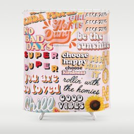 Orange Mood Shower Curtain