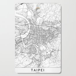 Taipei White Map Cutting Board